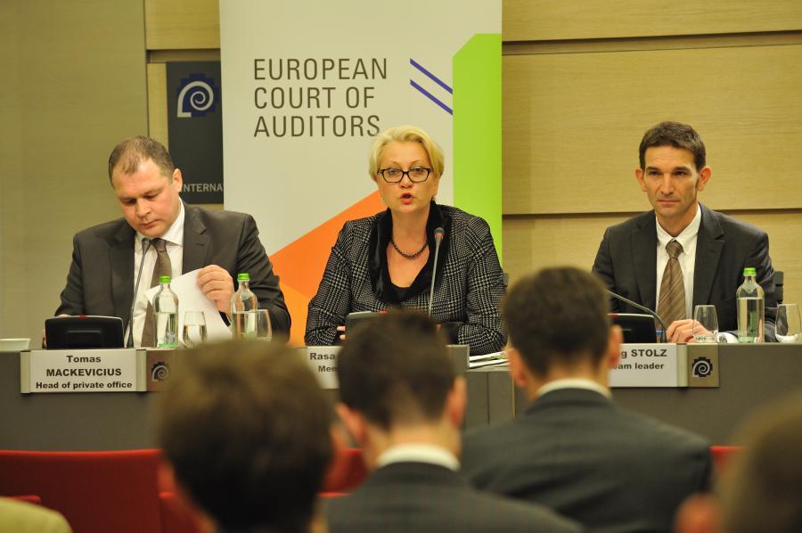 Press conference by ECA Member Rasa BUDBERGYTĖ on Special report No 11/2011